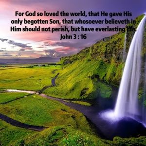 Pillow Cover-New-Christian - John 3:16 - Scripture
